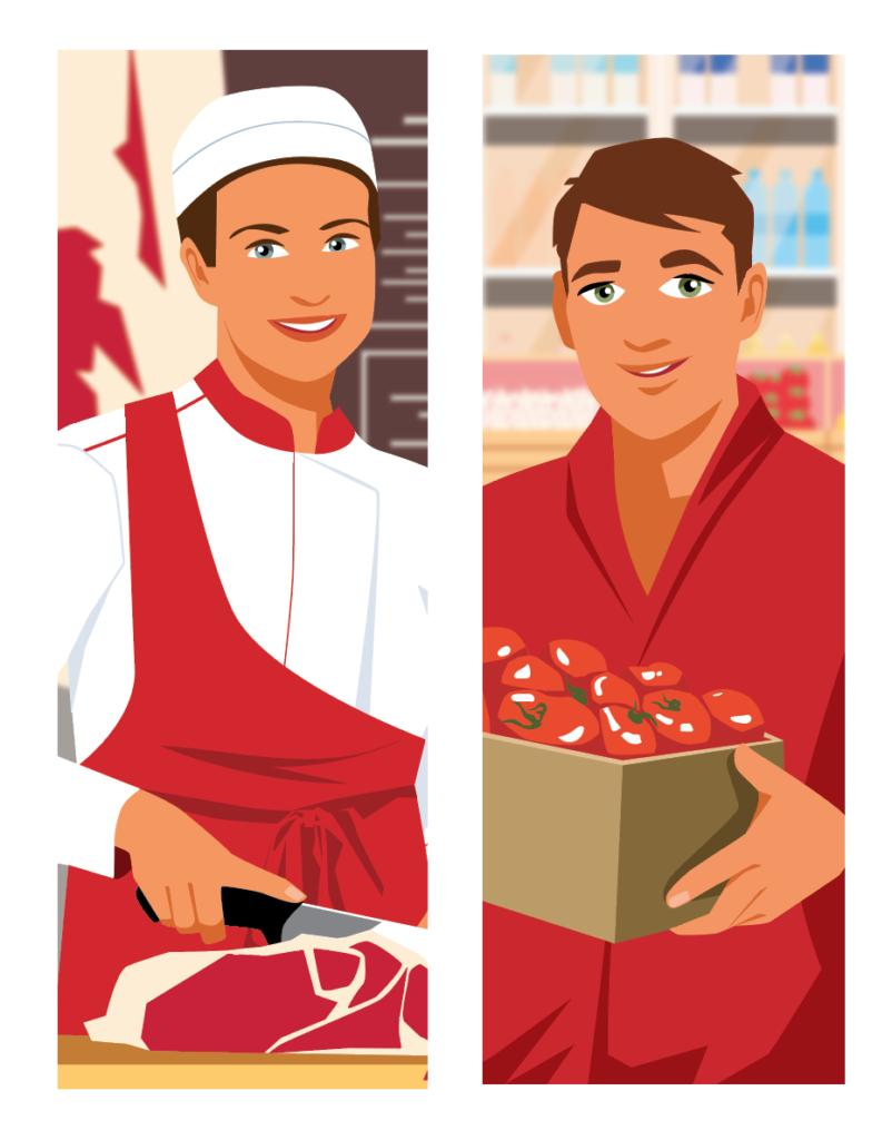 illustration mission handicap Auchan