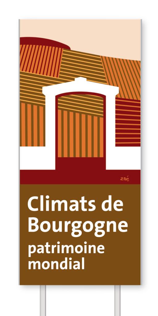 Illustration panneaux d'autoroute Climats de bourgogne