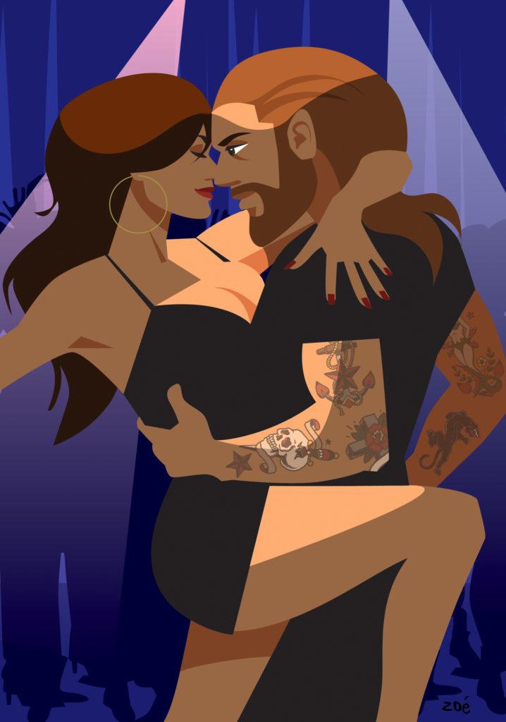 homme et femme sexy tango