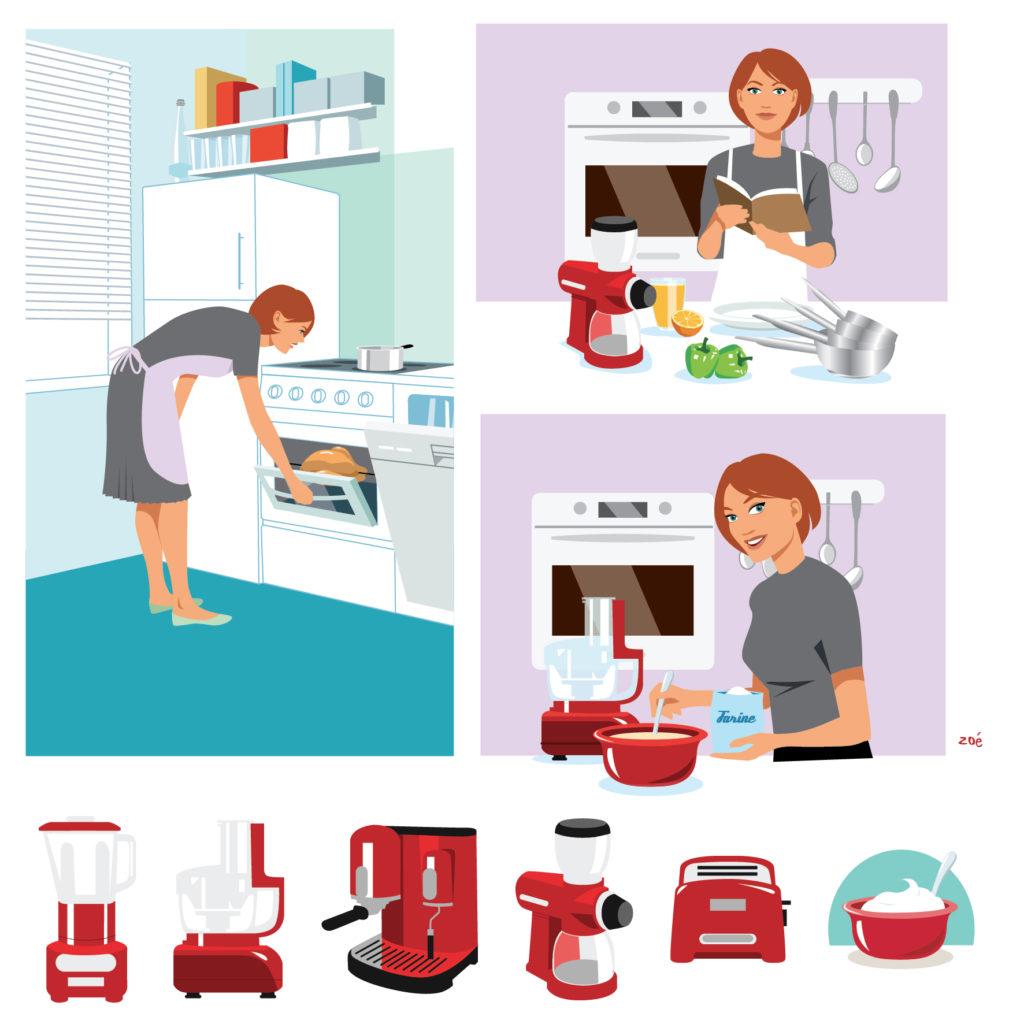 illustration cuisine