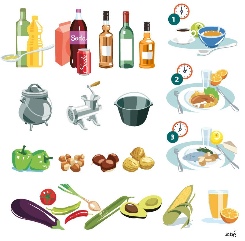 illustration alimentation
