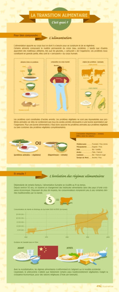 infographique transition alimentaire