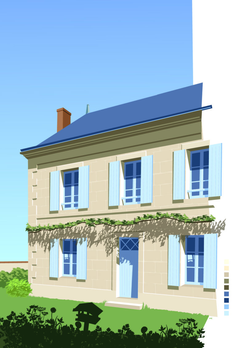 illustration maison Sarthe