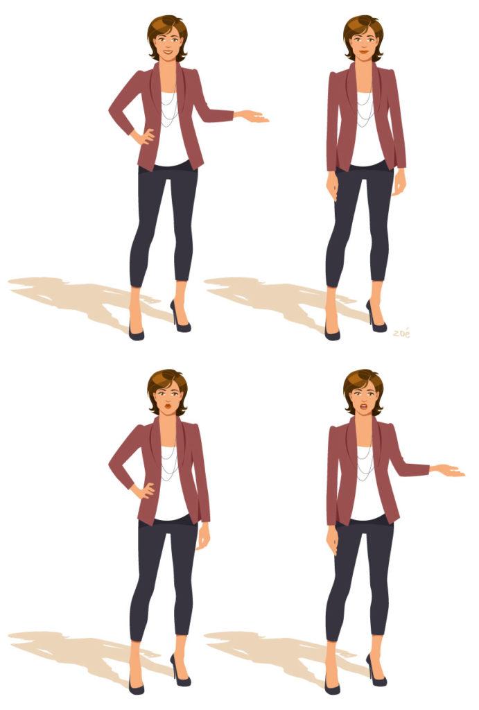 illustration personnage animatrice télévision