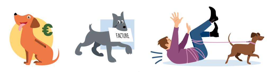 illustration chiens