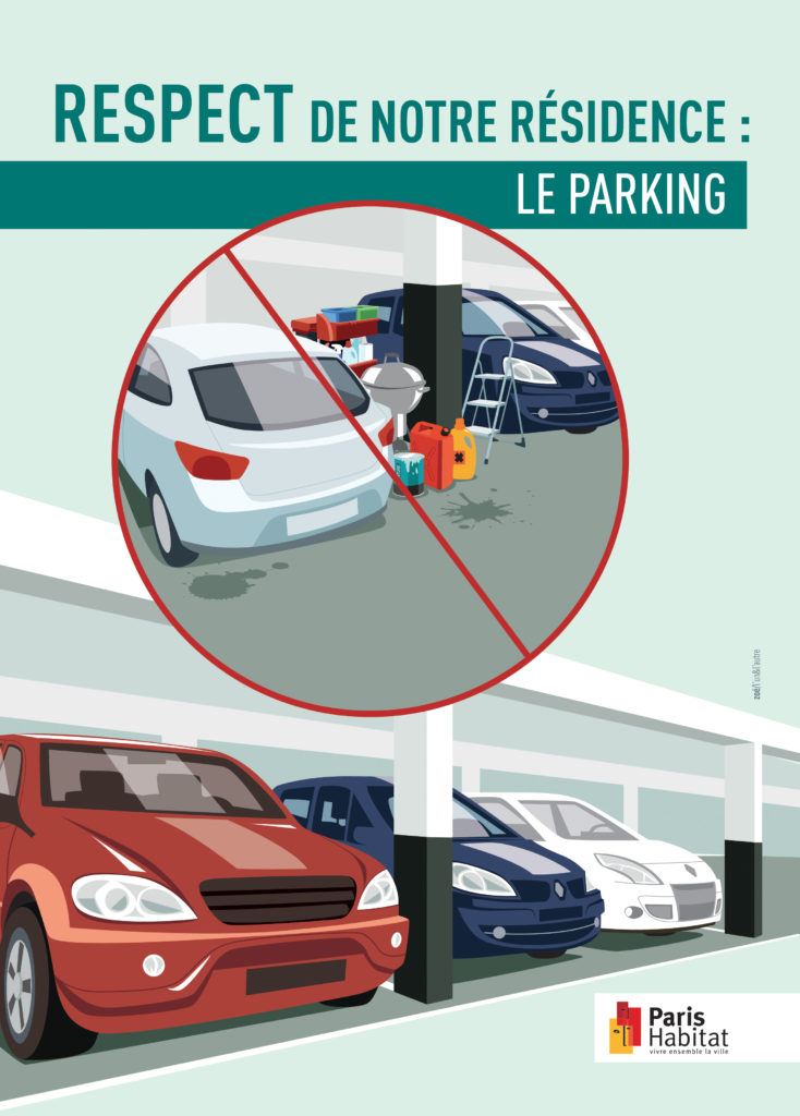 illustration garage voiture parking