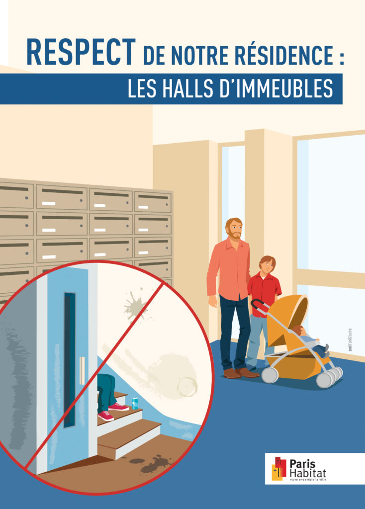 illustration hall d'immeuble