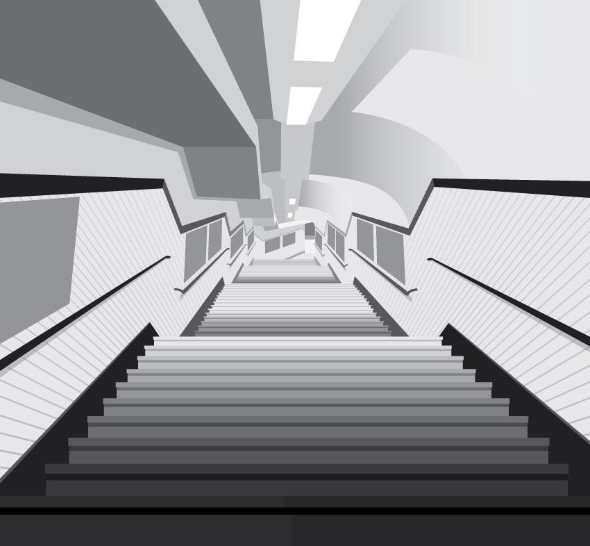 illustration metro escaliers
