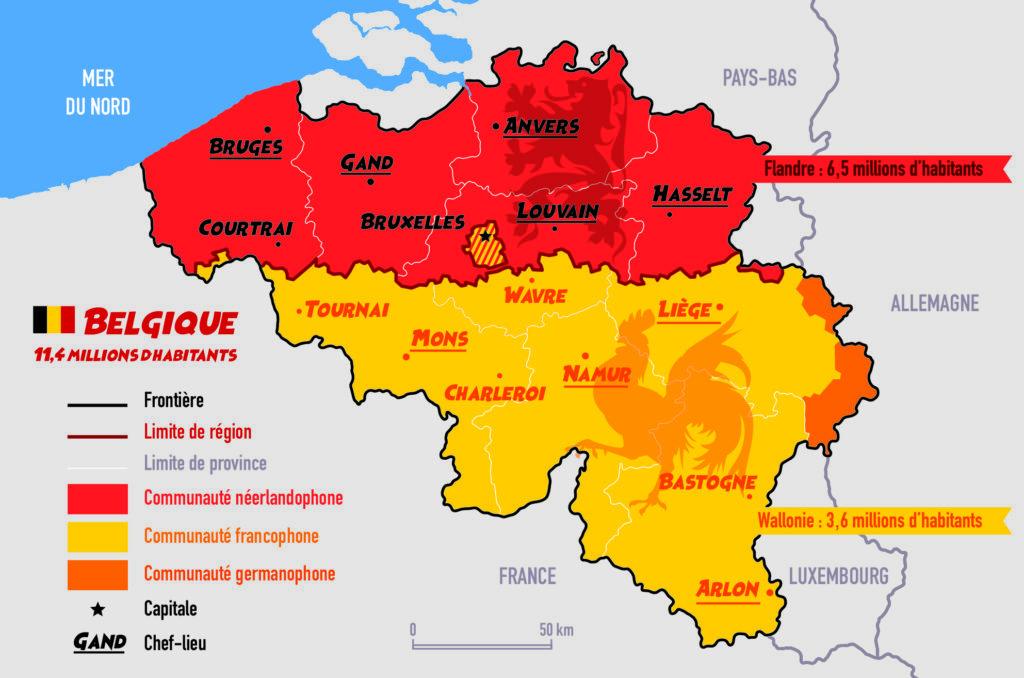 infographie Belgique carte
