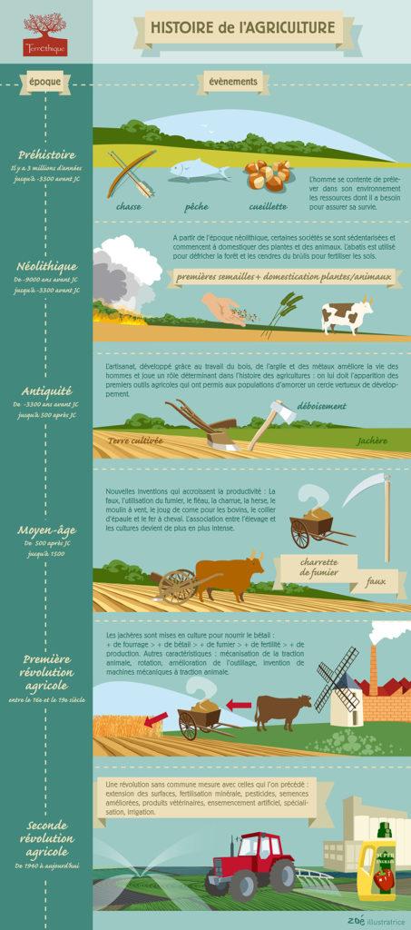 infographie histoire de l'agriculture