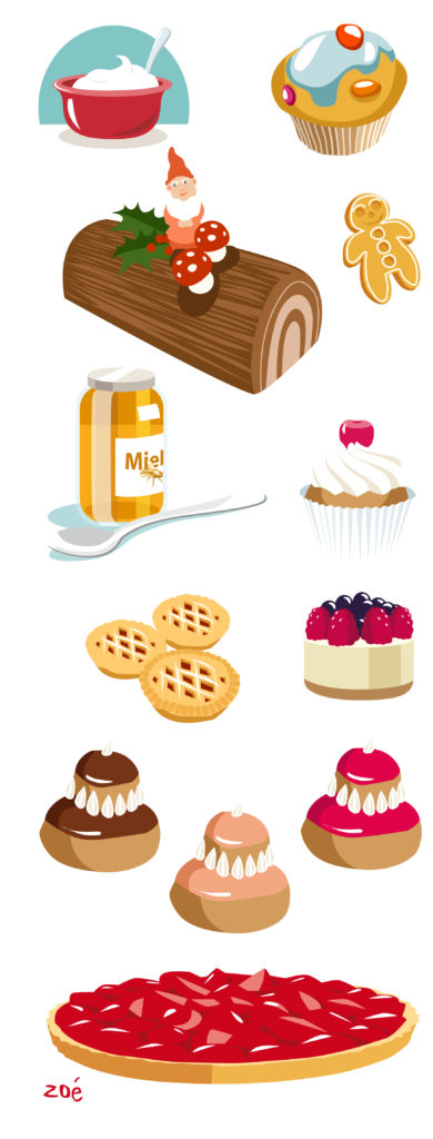 illustration pâtisseries