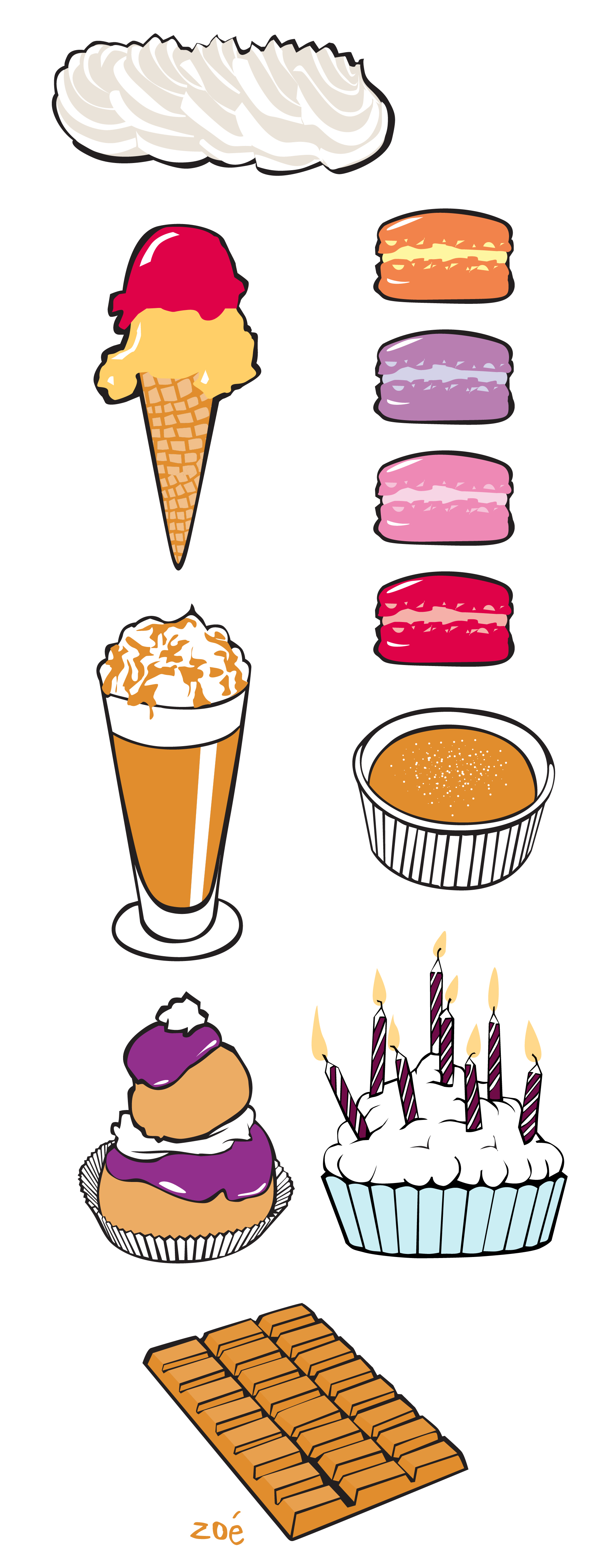 illustrations pâtisseries