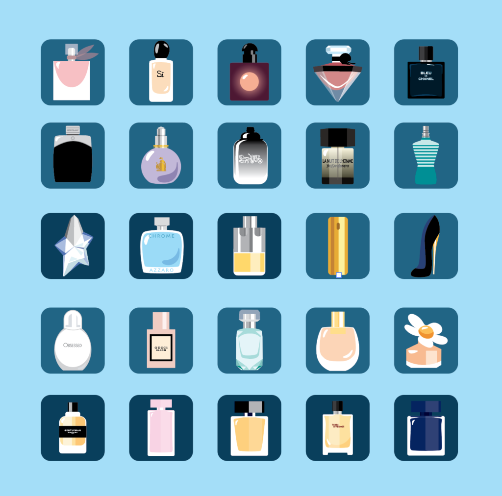 illustration flacons parfum