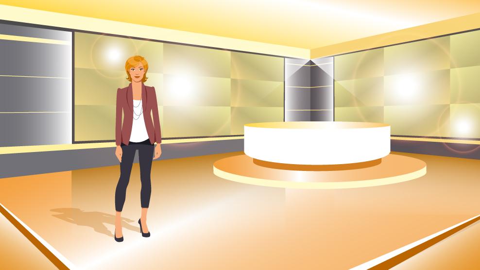 illustration plateau TV