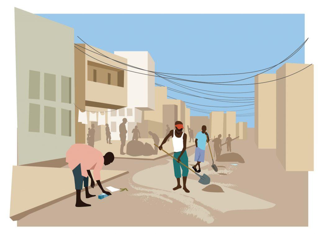 illustration rue afrique