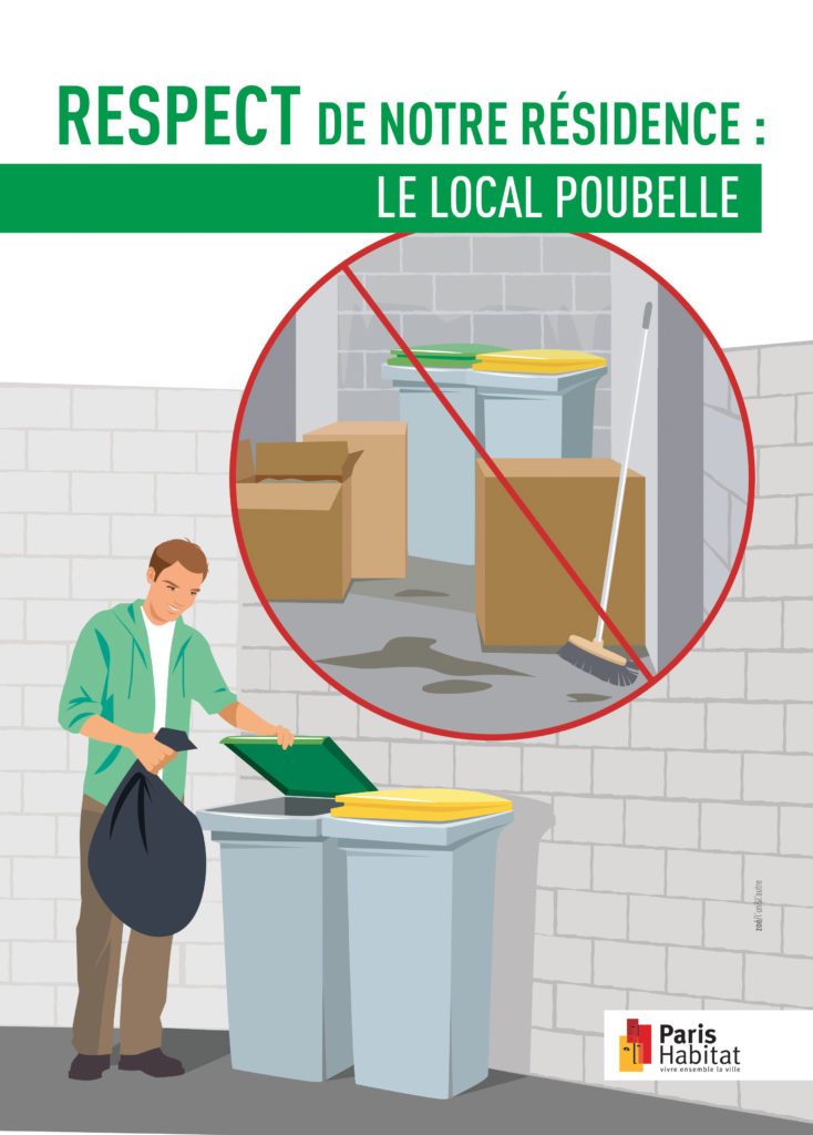 illustration poubelles