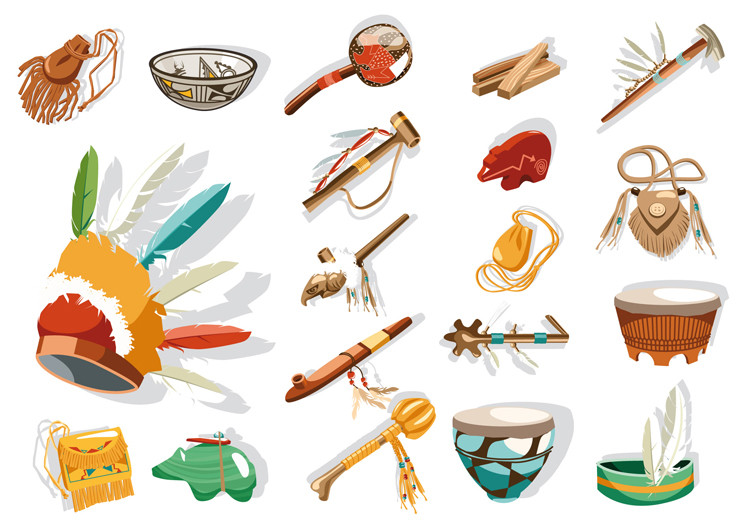 illustration Trésors des Indiens d'Amérique …